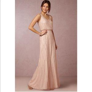 BHLDN Adrianna Papell Blush Bridesmaid Dress Sz 2